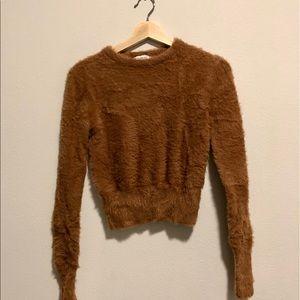 Zara fuzzy crop sweater